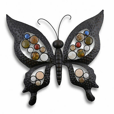 Large Metal Butterfly Wall Art Ornament For Garden or Home ()
