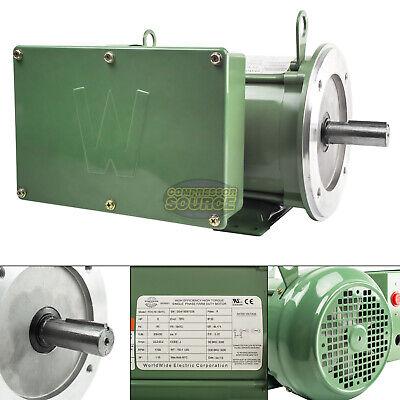 5 Hp Farm Duty Single Phase Electric Motor C-face 1800 Rpm 184tc Tefc 208-230v