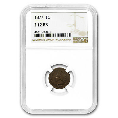 1877 Indian Head Cent Fine-12 NGC - SKU#174956