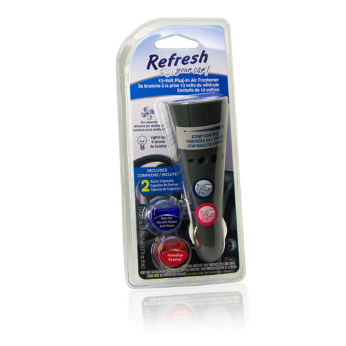 Refresh 12v Car Plug-in Air Freshener with Scent Capsules