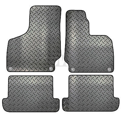 Audi TT MK2 2006 to 2014 Tailored 4 Piece Rubber Car Mat Set 4 Round Clips