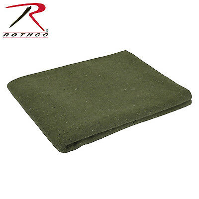 """Rothco 10430 Olive Drab  Wool Army Style Rescue Survival Wool Blanket 60"""" X 80"""""""