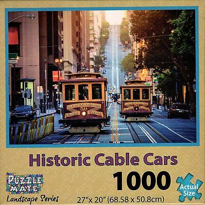 Puzzle Mate Landscape Series 1000 Piece Jigsaw Puzzle - Historic Cable Cars