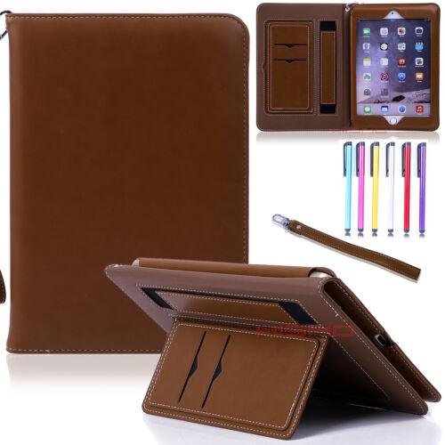 For iPad 2 3 4/ air/ air2/ mini Luxury Leather Wallet Smart Stand Case Cover