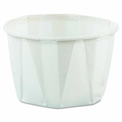 Solo 2 oz. White Paper Disposable Souffle Cup -250/Sleeve
