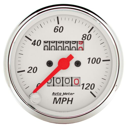 AutoMeter 1396 Arctic White Mechanical Speedometer