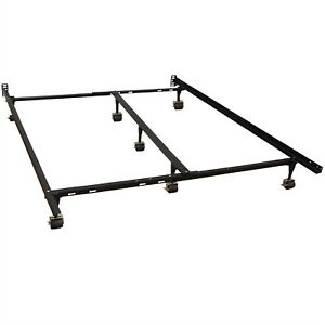 Queen bed casters bed frame