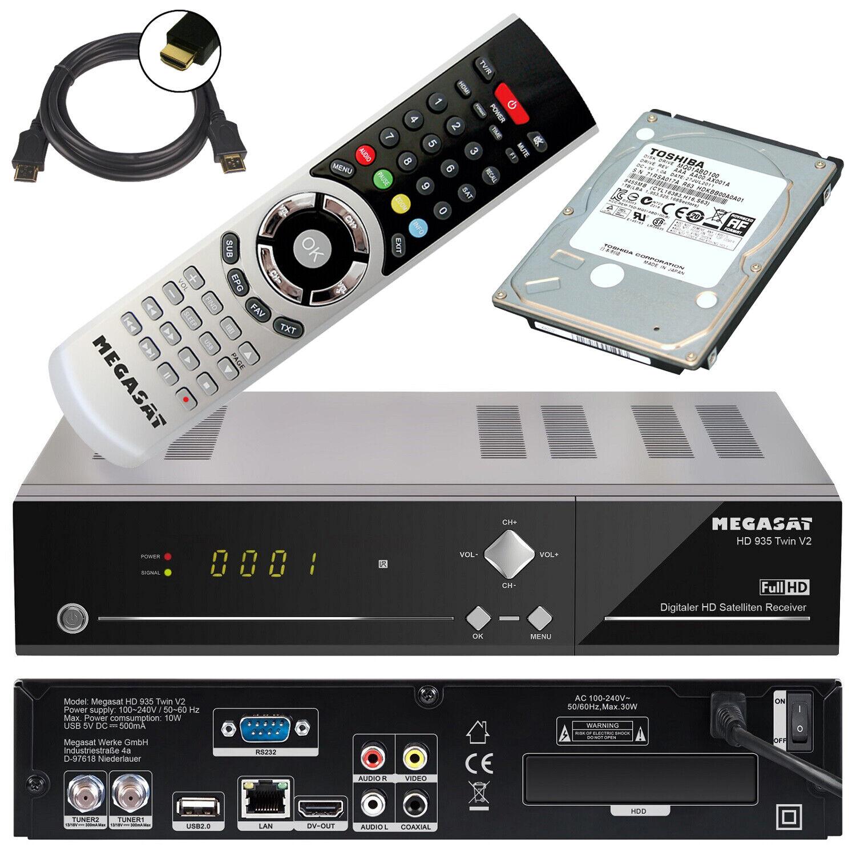 Megasat HD 935 Twin V2 HDTV Sat Receiver Live Stream 1TB Festplatte intern 1000G