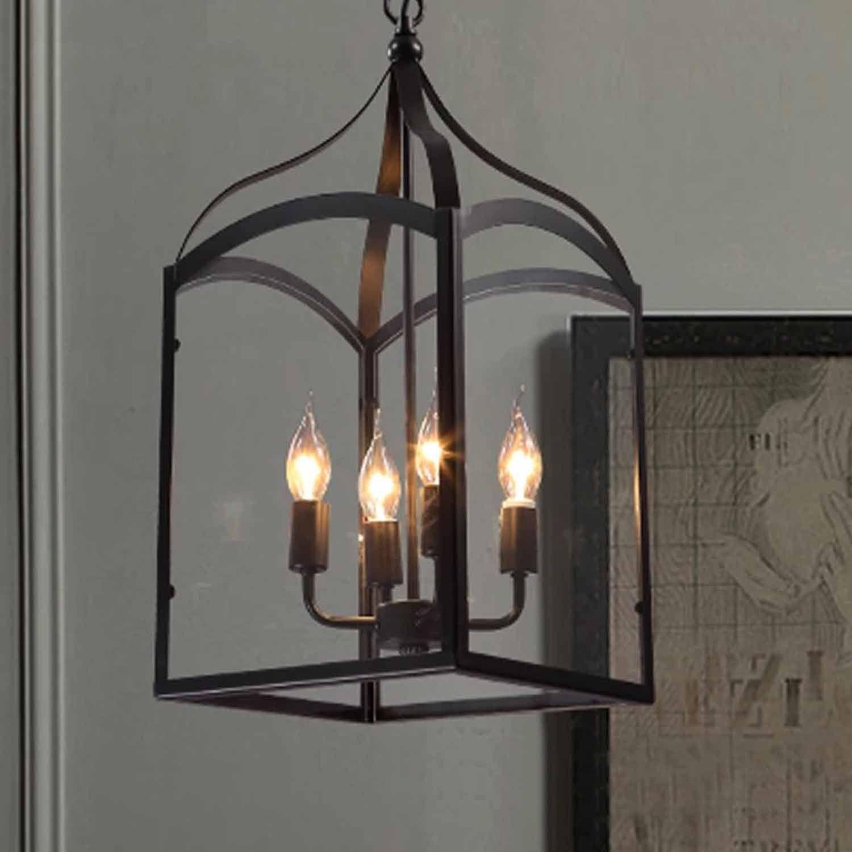 Vintage Industrial Hanging Chandelier Lantern Pendant