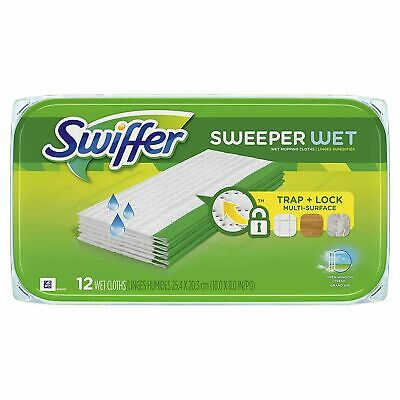 Swiffer Sweeper Wet Cloth Mop Refill (12-Count)
