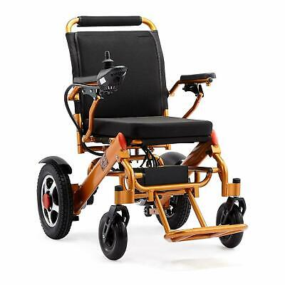 Folding Lightweight Electric Power Wheelchair Medical Mobility Aid Motorized ()