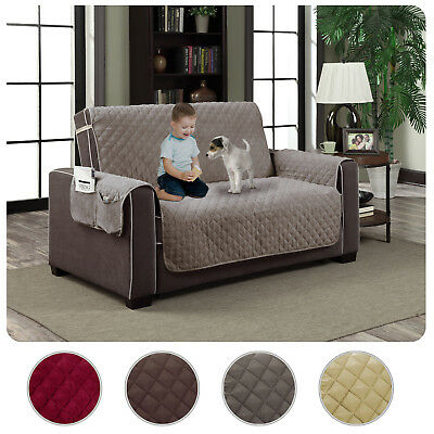 Slipcover Microfiber Reversible Pet Dog Couch Protector Cove
