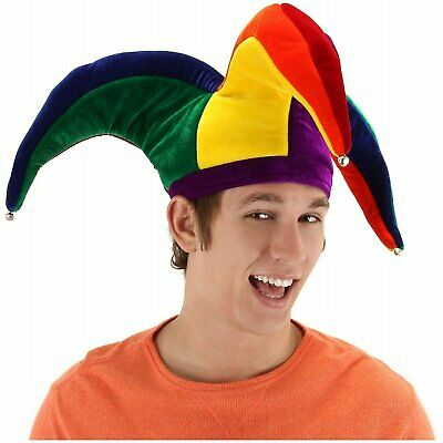 Adult Men's Multicolor Court Jester Joker Carnival Entertainer Halloween Costume](Halloween Costumes Court Jester)