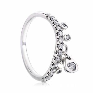 Chandelier Droplets Ring, Clear CZ pandora size 5