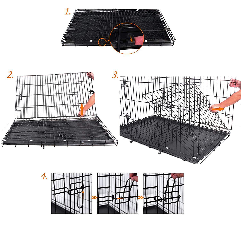Hundetransportbox Hundekäfig Hundebox Transportbox Drahtkäfig Faltbar Käfig