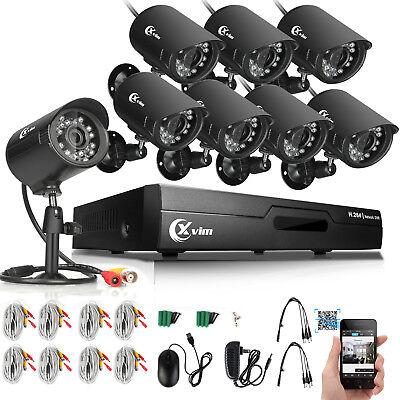 XVIM 8CH 1080N HDMI DVR Video 1500TVL Outdoor CCTV Home Security Cameras System