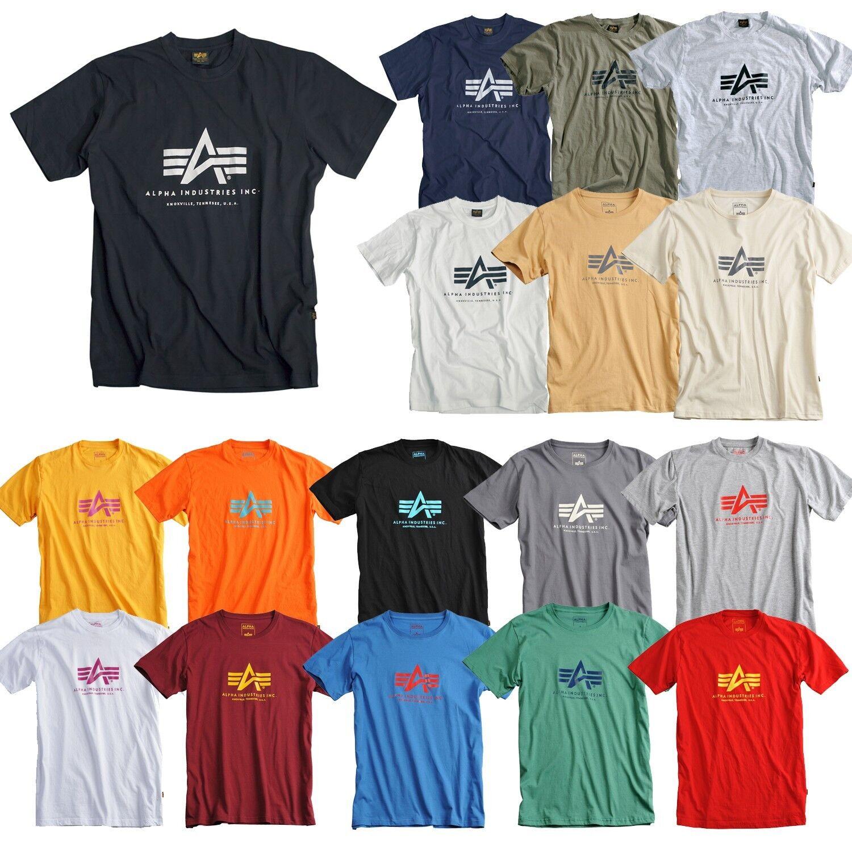9704dd203d4d Alpha Industries Basic T-Shirt Shirt black navy white olive grey neue  Farben фото