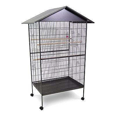 Vogelkäfig, Vogelvoliere aus Metall Käfig Voliere großes Vogelhaus Wellensittich