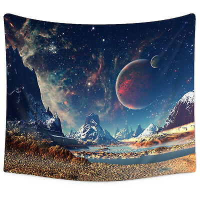 Large Galaxy Planet Tapestry Wall Hanging Tapestry Psychedelic Home Decor (Large Wall Hanging)