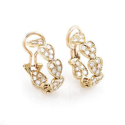 el precio más bajo 0a7d4 f58c4 Detalles de Cartier Virgo 18CT Oro Rosa Diamante Pendientes Corazón
