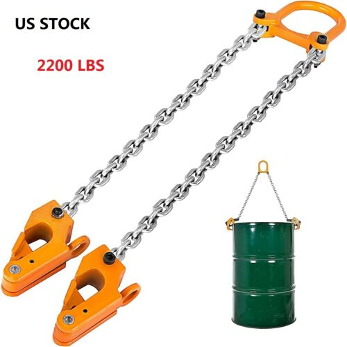2200lbs Chain Drum Lifter Load Capacity Barrel Lifter Sling With G80 Lifting