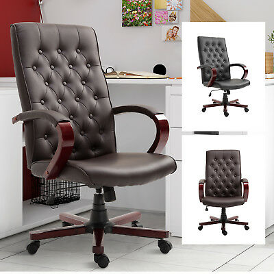 High Back Executive Office Chair PU Leather Ergonomic Computer Desk Task Seat ()