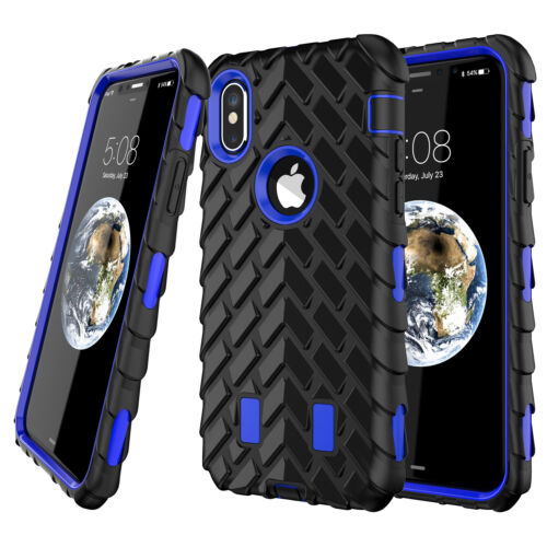 For iPhone X 6s 7 6 Plus  Heavy Duty Rugged Rubber Armor Shockproof Case Cover