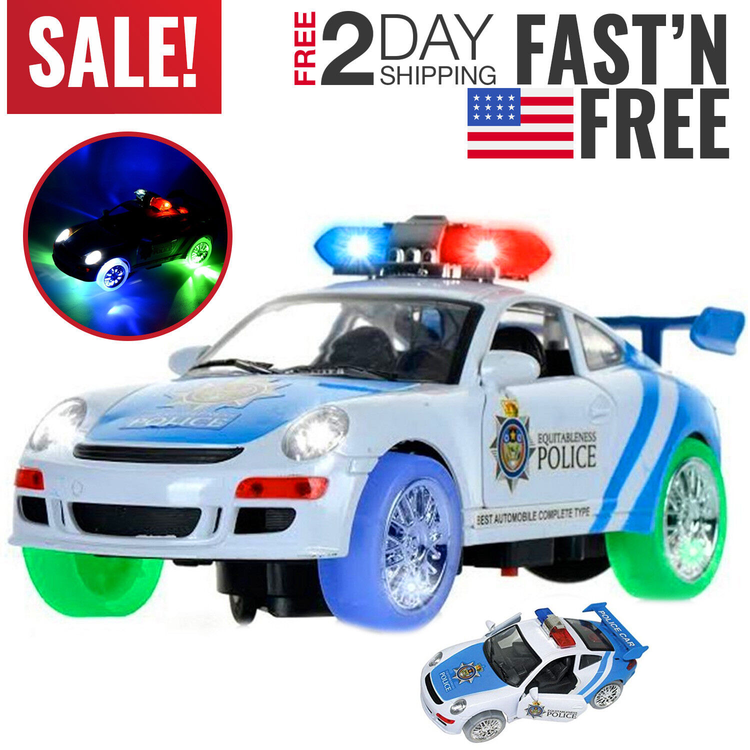 Toys For 3 And 6 : Toys for boys police car truck kids year old