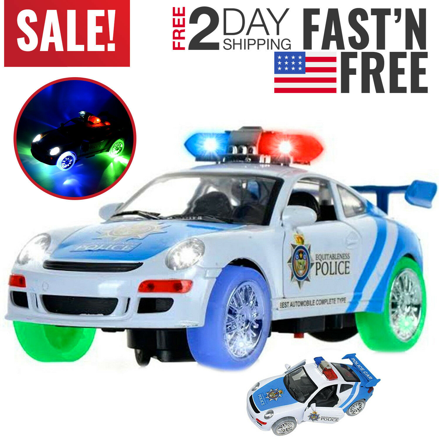 Police Toys For Boys : Toys for boys police car truck kids year old