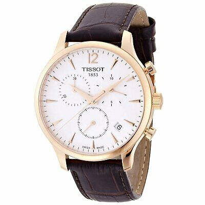 Tissot T0636173603700 T-Classic Tradition Men's Chronograph Brown Leather Watch
