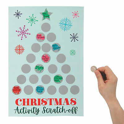 Holiday Scratch Off Advent Calendar - Stationery - 2 Pieces