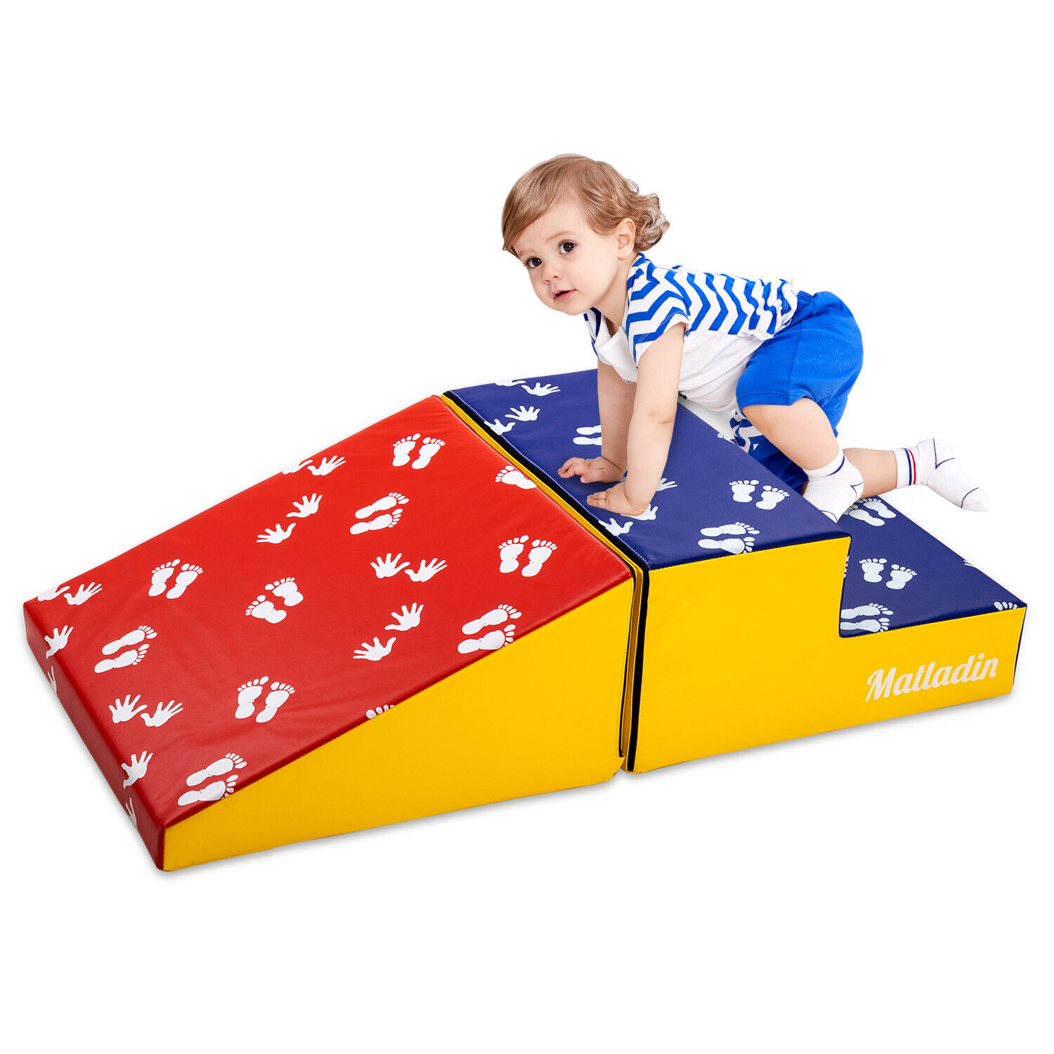 Indoor Beginner Toddler Climber with Slide Stairs Soft Foam