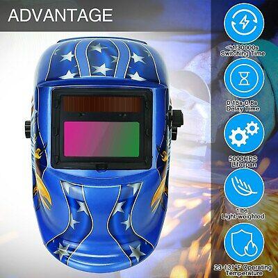 Pro Solar Auto Darkening Welding Helmet Arc Tig Mig Certified Hood Mask Grinding