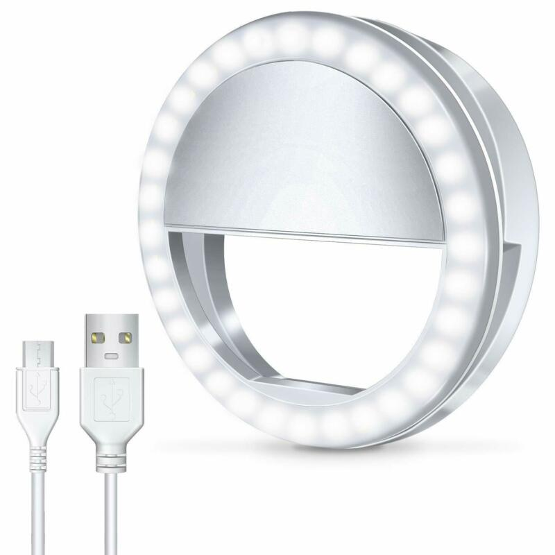 Rechargeable Selfie Phone Camera Ring Light 3 Modes 36 LED For Samsung iPhone