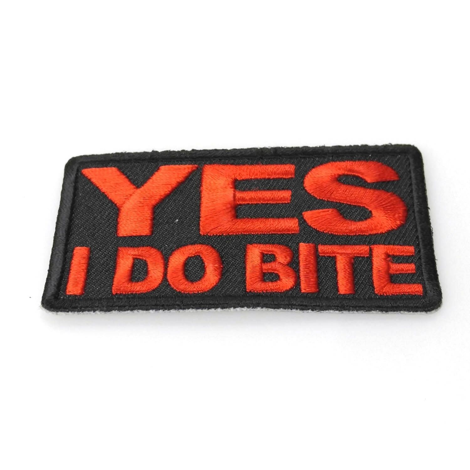 Iron On// Sew On Embroidered Patch Badge Yes I Do Bite
