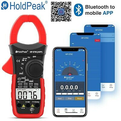 Digital Clamp Meter Dc Current 4000 Counts Acdc Volt Portable Handheld Tester