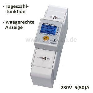 digitaler Wechsel- Stromzähler S0 LCD 5(50)A -DRS255B- für DIN Hutschiene