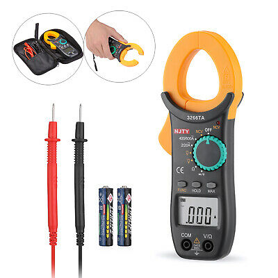 Digital Clamp Meter Tester Ac Dc Volt Amp Multimeter Auto Ranging Current 600a