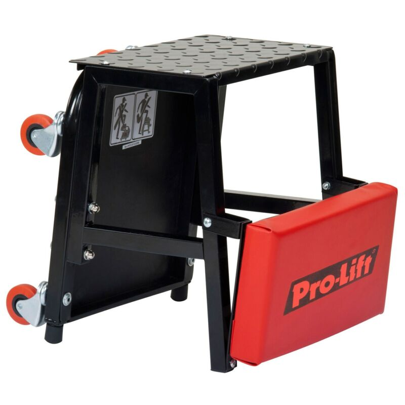 Pro-Lift C-2800 300-pound Capacity Creeper Seat and Stool Red