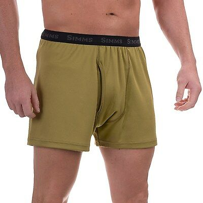 Simms WaderWick Double-Knit Boxers ~ Army Green - NEW ~Size XL X-Large