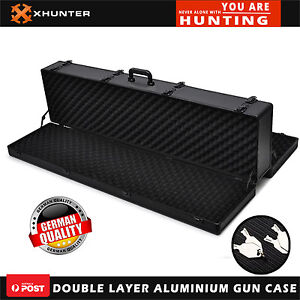 Aluminium Gun Case Carry Double Guns Rifle Hunt Shooting Protable Carry Gun Box