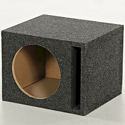 Auto Vented Subwoofer 10in Unloaded Box Car Sub Woofer MDF Wood Single (10 Subwoofer Unloaded Enclosure Box)