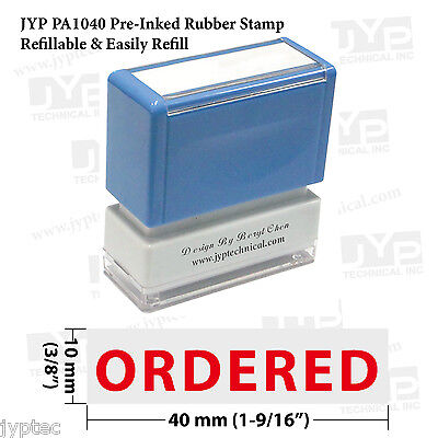 Jyp Pa1040 Pre-inked Rubber Stamp Stamp Text Ordered