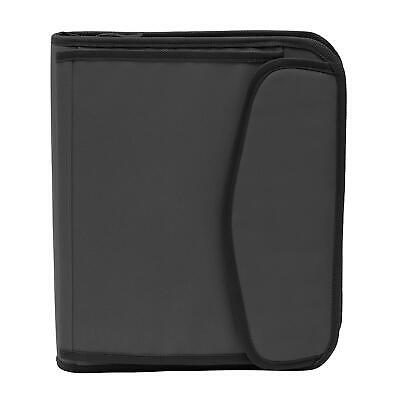 New Members Mark 3 Ring 1.5 Binder With Zipper Charcoal Fast Free Shipping