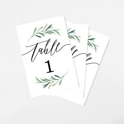 - Tumbalina Wedding Table Numbers Botanical Greenery Design 4x6 Numbers 1-25