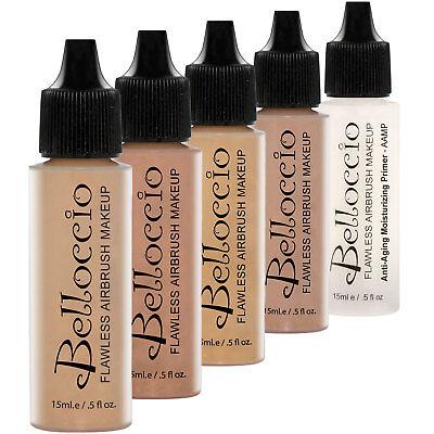 - Belloccio MEDIUM Airbrush Makeup FOUNDATION SET Mid Tone Shade Face Cosmetic Kit