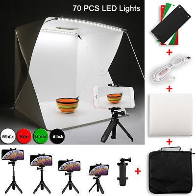 Fold Photo Tent (70Pcs LED Light Photography Tent Folding Photo Studio + Extendable Phone Holder)