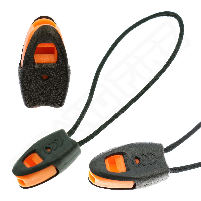 Zipper Pull Whistle Survival Emergency Jacket Rucksack Military Molle Zip