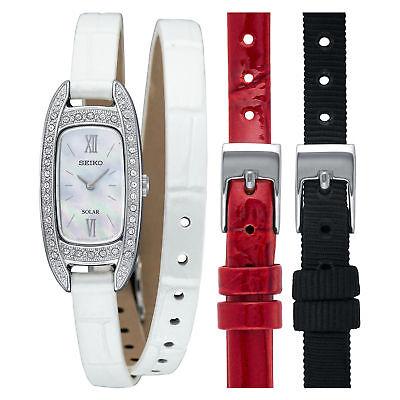 - Seiko Women Wrap-around Leather Bracelet Watch SUP391