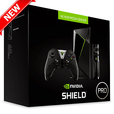 NVIDIA SHIELD TV Pro 500GB Streaming Media Player 4K w/ Gaming Controller  NEW